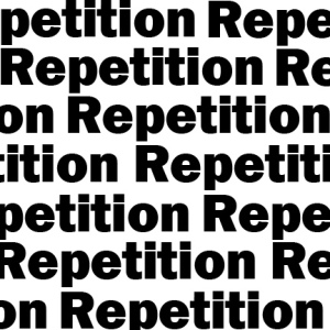 repetition 1