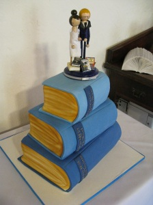 Yes, those books are made of cake.